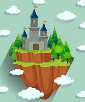 Tour du château dans la forêt vecteur