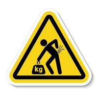 risque de levage peut entraîner des blessures voir le manuel de sécurité pour les instructions de levage vecteur