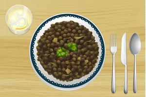 Nourriture éthiopienne vecteur
