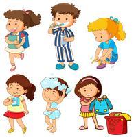 Ensemble d'activités pour enfants vecteur
