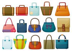 Différents modèles de sacs vecteur