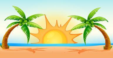 Scène de l'océan au lever du soleil