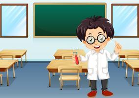 Scientifique en classe vecteur