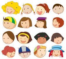 Différents visages vecteur