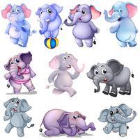 Un groupe d'éléphants vecteur