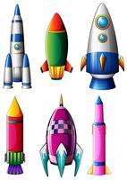 Différents modèles de fusées vecteur
