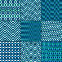 bleu vert mod bargello motifs géométriques