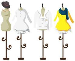 Mannequin de tailleur féminin sur fond blanc vecteur