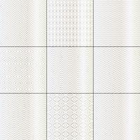 motifs géométriques mod bargello blanc argenté