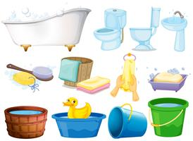 Set de bain vecteur