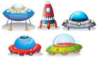 Des soucoupes volantes et une fusée vecteur