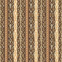 Modèle sans couture de peau de serpent de chaînes d'or. Illustration vectorielle