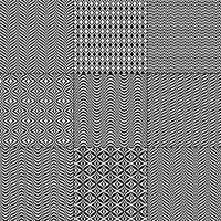 motifs géométriques noir blanc mod bargello