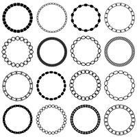 cadres de cercle de chaîne noire mod vecteur