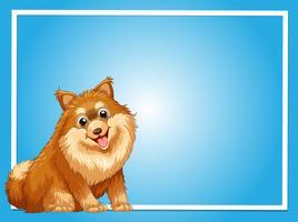 Modèle de frontière avec chien mignon