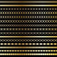 motifs de bordure de chaîne d'or mod vecteur