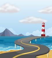 Pont courbe à travers l'océan