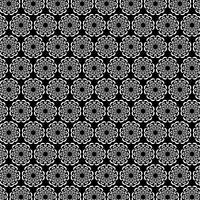 modèle de médaillon circulaire noir blanc orné vecteur