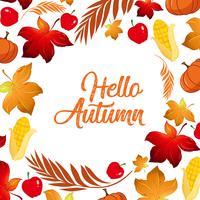 Bonjour modèle de feuille d'automne