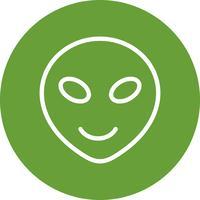 icône de vecteur emoji extraterrestre