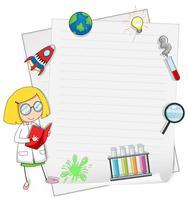 Un modèle de note Science Girl