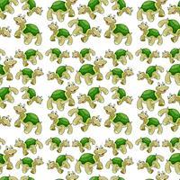 Modèle sans couture de tortue verte vecteur