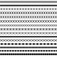 motifs de bordure de chaîne noire mod