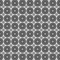 motif médaillon cercle noir blanc