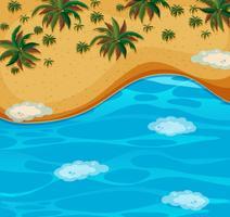 Une belle vue aérienne de la plage vecteur