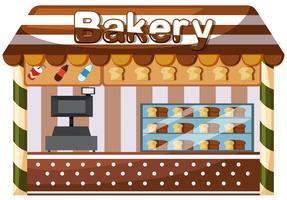 Une boulangerie sur fond blanc vecteur