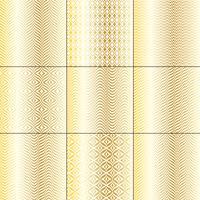 motifs géométriques mod bargello blanc doré