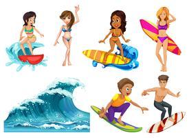 Le surf vecteur