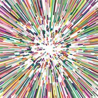 Disperser la bande de couleur, abstrait.