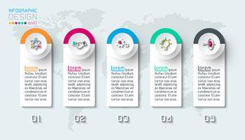 Infographie des entreprises en 5 étapes.