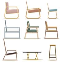 mobilier de chaise de salon vecteur