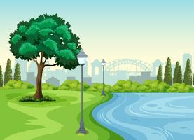 Un parc dans la ville vecteur