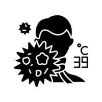 icône du glyphe du virus de la grippe vecteur