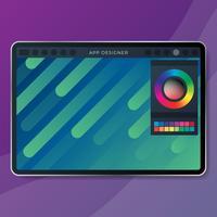 Illustration de l'interface de conception d'application mobile