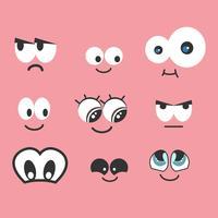 Collection de vecteur de dessin animé yeux