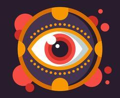 Illustration oculaire vecteur