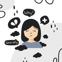 Vecteur de trouble d'anxiété chez les femmes
