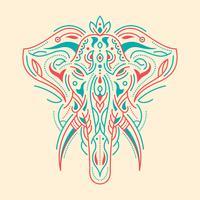 Illustration d'éléphant peinte vecteur