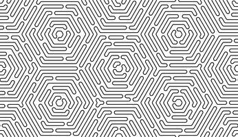Monochrome doodle art déco abstrait sans soudure avec la ligne de trait. vecteur