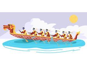 Fête des bateaux dragons vecteur