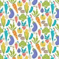 Modèle sans couture de légumes de vecteur