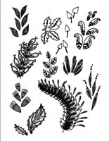 Ensemble de vecteur dessiner main Doodle Leaves