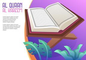 Al Coran Al Kareem Vecteur