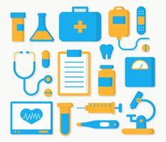Vecteur de collection élément de soins de santé