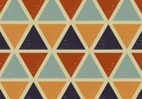 motif rétro triangles vecteur
