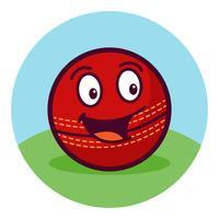 Caricature de balle de cricket